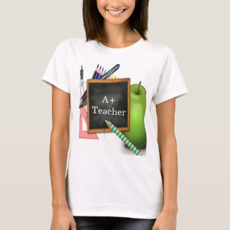 Personalized Teacher's Chalkboard T-Shirt