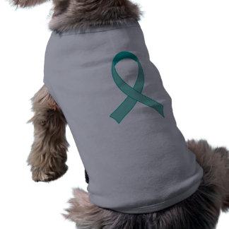 Personalized Teal Ribbon Tshirt Gift Dog Tee