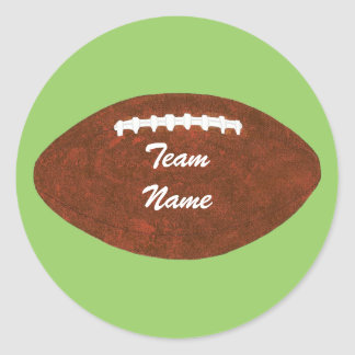 Personalized Team Name Football, stickers