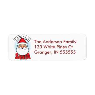 Personalized Team Santa Address Labels