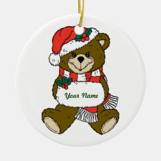 Personalized Teddy Bear Christmas Ornament