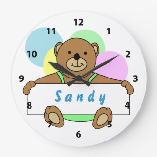 Personalized Teddy Bear Clocks
