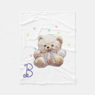 Personalized Teddy Bear Picture Fleece Blanket