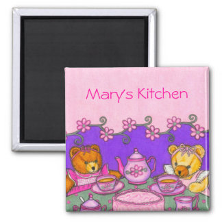 Personalized Teddy Bear Tea Party Magnet