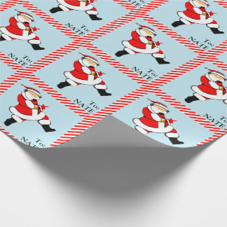 personalized teen Christmas gift wrap