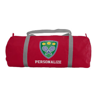 Personalized tennis bag for player or sports coach gym duffel bag