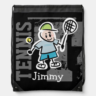 Personalized tennis bag | Kids drawstring backpack
