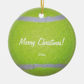 Personalized Tennis Ball Christmas Ornaments