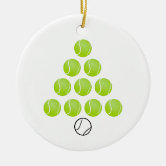 Personalized Tennis Ball Christmas Tree Ornament