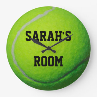 Personalized Tennis Ball Large Wall Clock