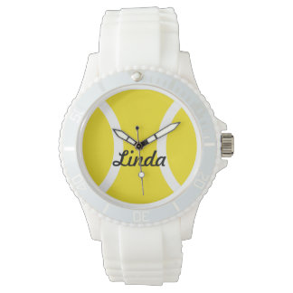 Personalized tennis ball watches with custom name