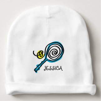 Personalized tennis beanie hat for newborn baby baby beanie