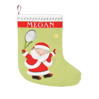 personalized tennis Christmas gifts Large Christmas Stocking