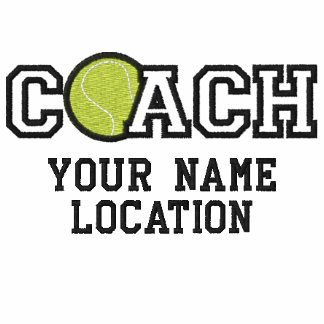 Personalized Tennis Coach Your Name Your Game Embroidered Shirts