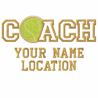 Personalized Tennis Coach Your Name Your Game Polo Shirts