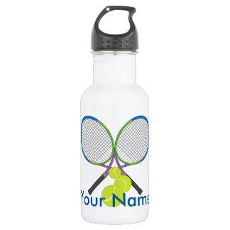 Personalized Tennis Crossed Rackets 532 Ml Water Bottle