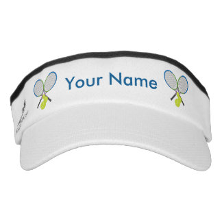 Personalized Tennis Crossed Rackets Visor