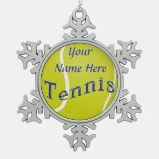 Personalized TENNIS Ornaments with YOUR NAME