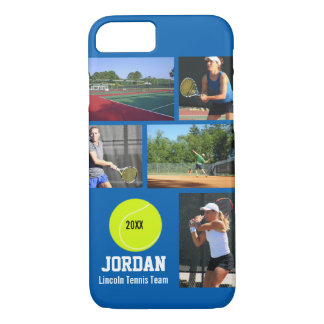 Personalized Tennis Photo Collage Name Team iPhone 7 Case