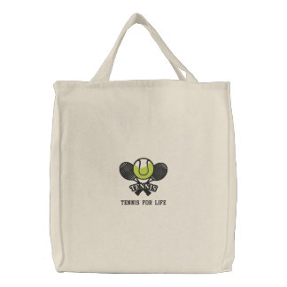 Personalized Tennis Rackets and Ball embroidered Embroidered Tote Bag