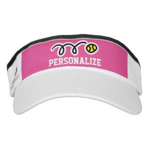 361c193ac40 Personalized tennis sun visor cap for men or women