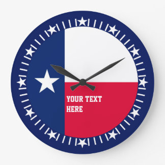 Personalized Texas State Flag Design on a Large Clock