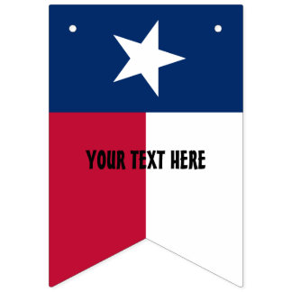Personalized Texas state flag party bunting banner