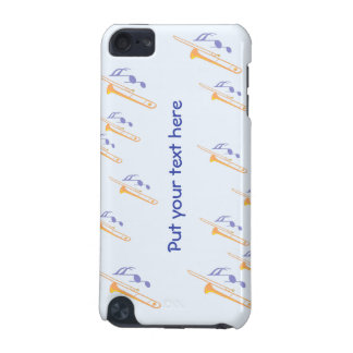personalized text and Trombones iPod Touch 5G Cases