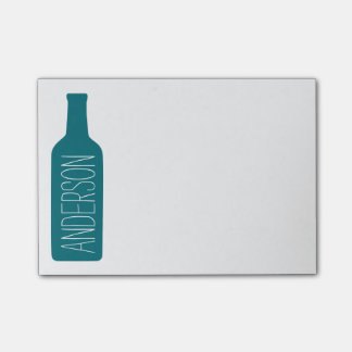 Personalized Text with Blue Bottle Illustration Post-it Notes