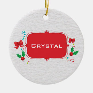 Personalized Textured Christmas Ornament Name Year