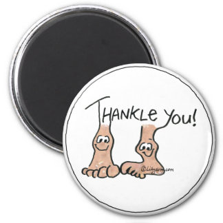 Personalized Thank You Gift 6 Cm Round Magnet