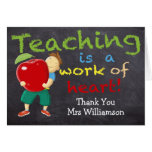 Personalized, Thank You Teacher Greeting Card