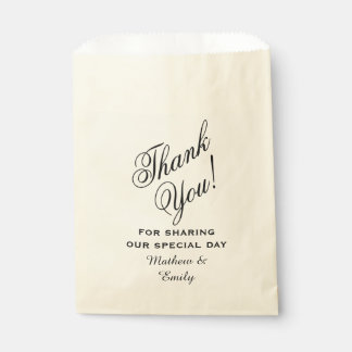 Personalized Thank You Wedding Favour Bags