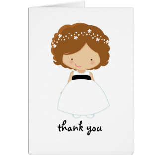 Personalized Thanks For Being Our Flower Girl Card