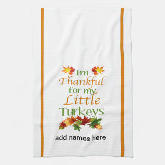 Personalized Thanksgiving Dish Towel