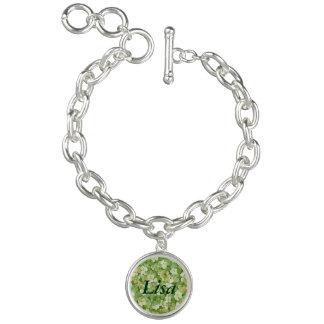 Personalized The Green Garden Charm Bracelet