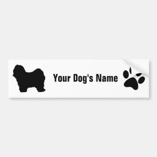 Personalized Tibetan Terrier チベタン・テリア Bumper Sticker