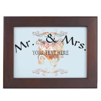 Personalized To People in Love Wedding Keepsake Box