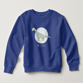Personalized Toddler Boy Doodle Dinosaur with Name Sweatshirt