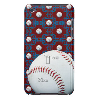 Personalized Tom Baseball Motif Ipod Touch Case
