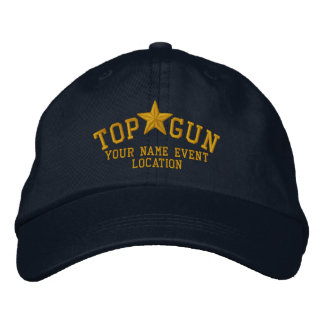 Personalized Top Gun Star Embroidery Embroidered Cap