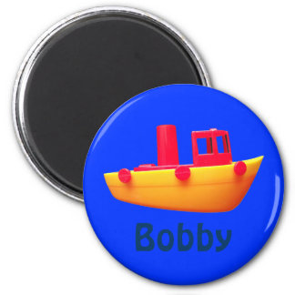 Personalized Toy Boat Magnet