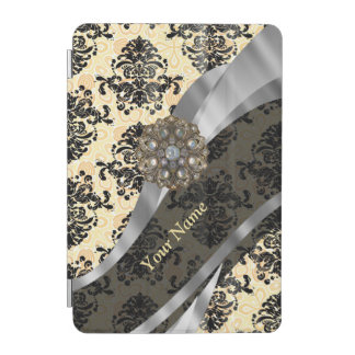 Personalized traditional vintage damask iPad mini cover