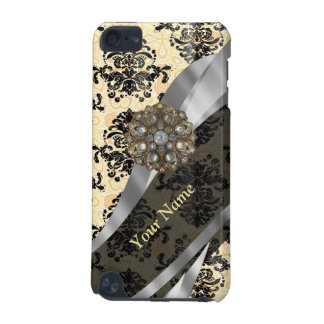 Personalized traditional vintage damask iPod touch 5G case