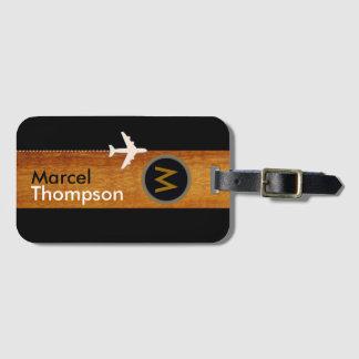 personalized travel / elegant monogram luggage tag