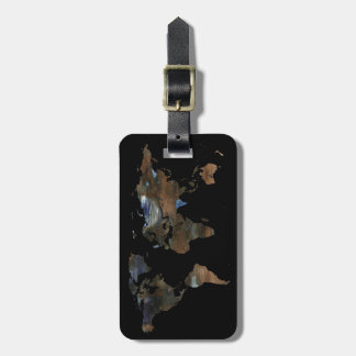 personalized travel world map bag tag