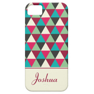 Personalized Tribal Triangles Geometric Patterned iPhone 5 Cover