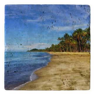 Personalized Tropical Beach Trivet
