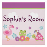 Personalized Tropical Garden Poster Wall Art