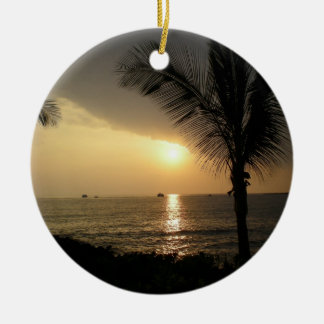 Personalized Tropical Holiday Ornament